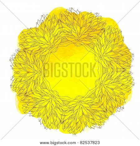 Watercolor yellow lace