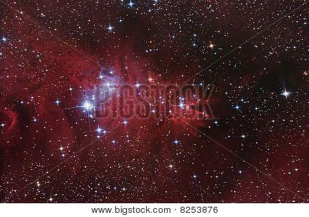 Nebular Complex In Monoceros Constellation.