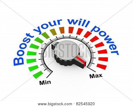 3D Knob - Boost Your Will Power