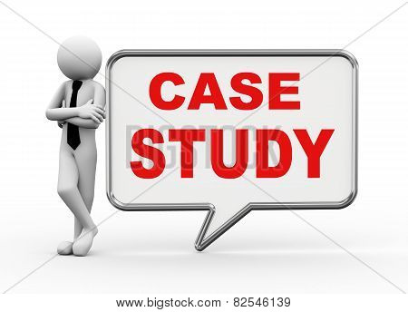 3D Businessman With Speech Bubble - Case Study