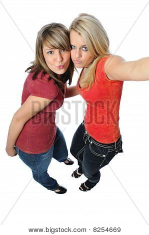 Two Friends Posing Together