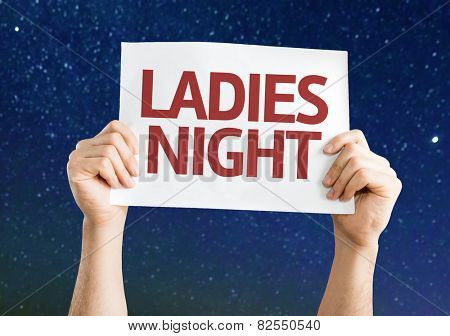 Ladies Night card with a beautiful night