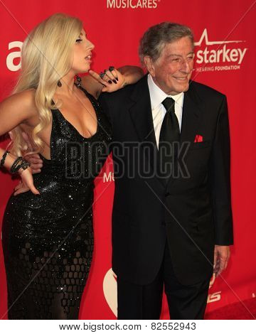 LOS ANGELES - FEB 6:  Lady Gaga, Tony Bennett at the MusiCares 2015 Person Of The Year Gala at a Los Angeles Convention Center on February 6, 2015 in Los Angeles, CA