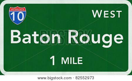 Baton Rouge USA Interstate Highway Sign