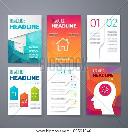 Templates. Design Set of Web, Mail, Brochures. Mobile, Technology, and Infographic Concept. SaaS, w