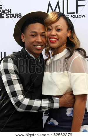 LOS ANGELES - FEB 6:  Jacob Latimore, Tish Taylor at the MILF (Moms I like To Follow) Celebration Of Entertainment at a SLS Hotel on February 6, 2015 in Beverly Hills, CA