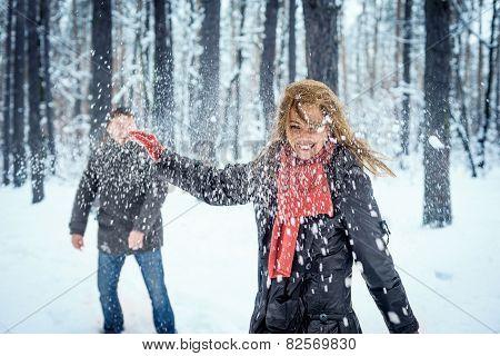 Snowball fight.