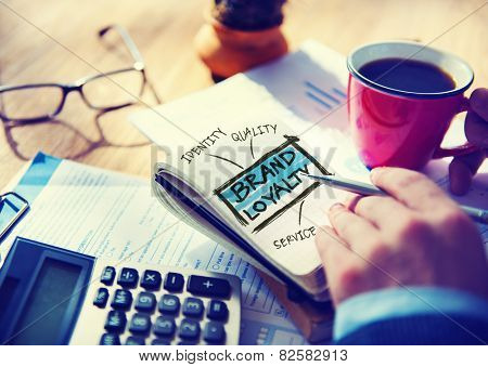 Brand Loyalty Marketing Branding Office Working Accounting Concept