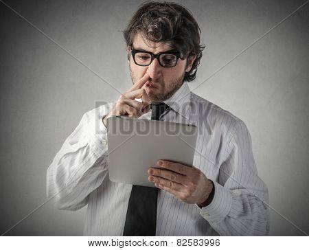Impolite businessman