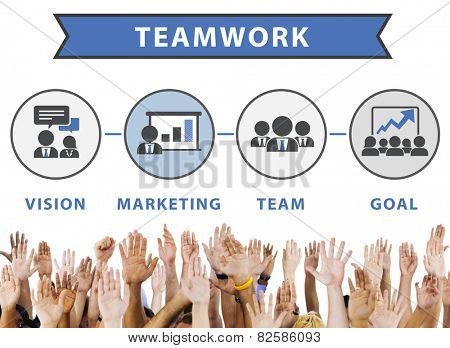 Team Vision Marketing Goal Corporate Teamwork Concept poster