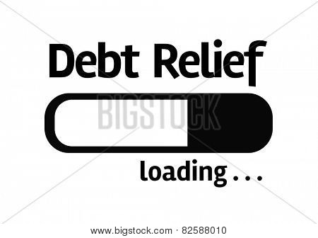 White board with inscription: Debt Relief