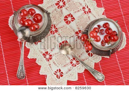 Dessert With Red Currant