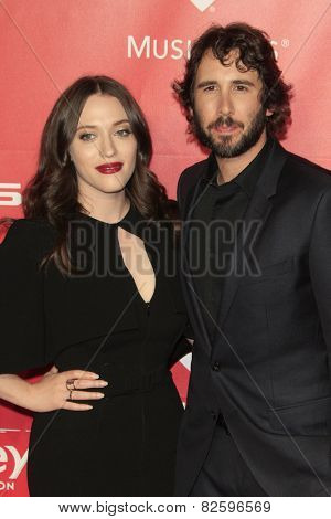 LOS ANGELES - FEB 6:  Kat Dennings, Josh Groban at the MusiCares 2015 Person Of The Year Gala at a Los Angeles Convention Center on February 6, 2015 in Los Angeles, CA