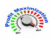 3d illustration of knob set at maximum for boost your profit and revenue poster