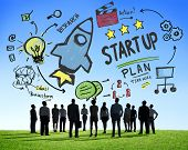 Start Up Business Launch Success Business Aspiration Concept poster