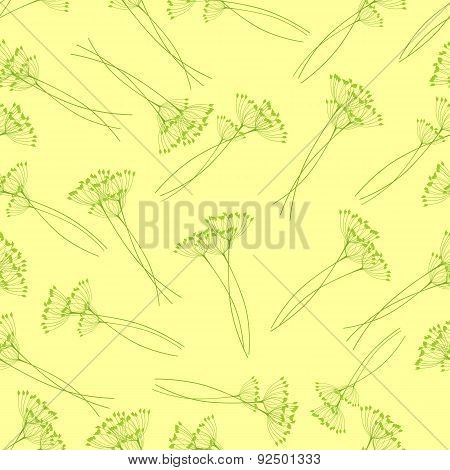 Pattern With Fennel Inflorescence