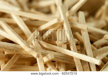 Heap of matchsticks in irregular chaotic formation