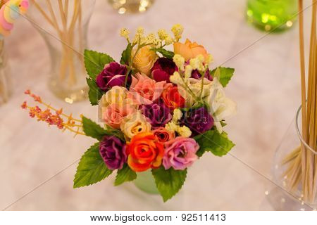 The flowers in weding day.