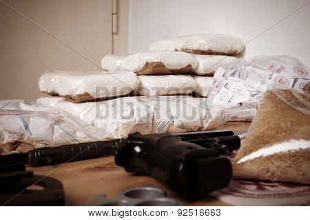 Criminal life - seized contraband
