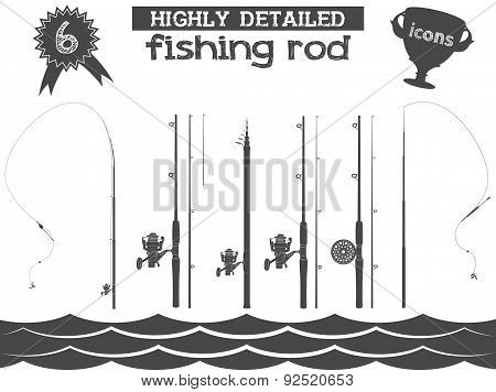 fishing rod icons 2