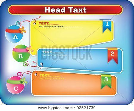 Text box templates colors