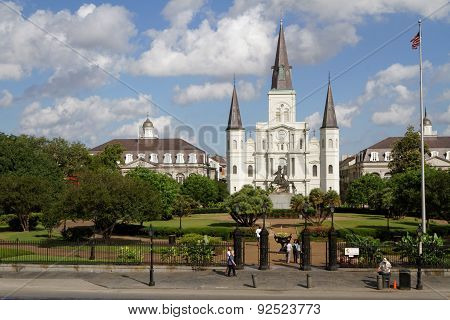 New Orleans Cathedral and Jackson Square