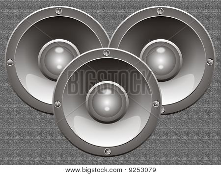 Three Isolated Loudspeakers