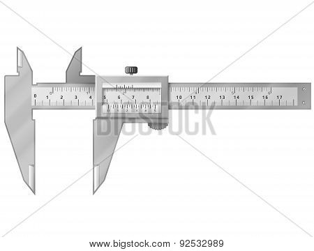 Vernier Caliper Isolated On White