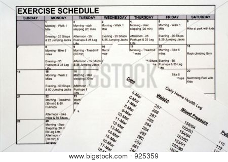 Exercise Schedule & Health Chart