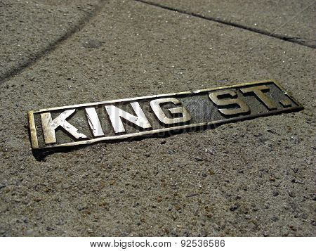 Sign Of The Historic King Street In Charleston, 2008