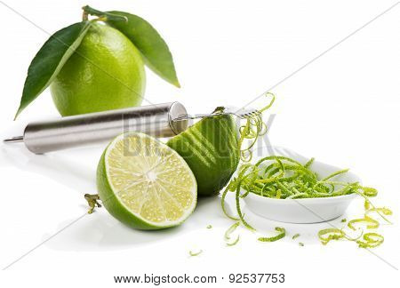 Zesting Lime