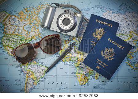 World travel with passports