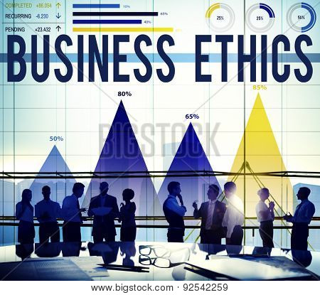 Business Ethics Honesty Ideology Integrity Concept poster