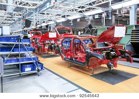 MLADA BOLESLAV, CZECH REPUBLIC - MAY 30: Skoda Auto celebrates 120 years since its establishemnt by Open Doors Day on May 30, 2015 in Mlada Boleslav