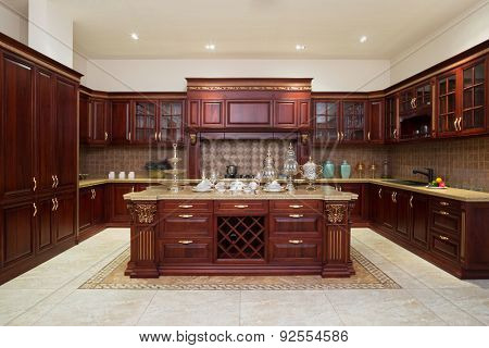 Modern kitchen interior and furniture