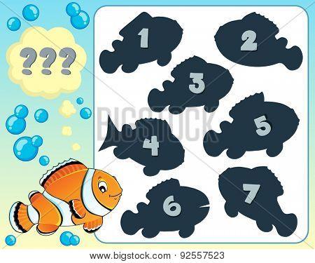 Fish riddle theme image 8 - eps10 vector illustration.