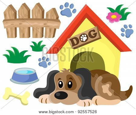 Dog thematic image 1 - eps10 vector illustration.