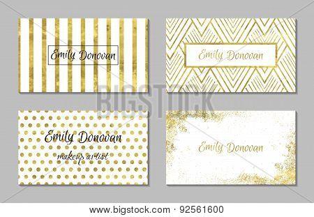Set  4 of golden cards