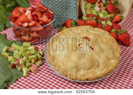 Strawberry-rhubarb Pie