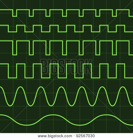 vector oscilloscope screen editable lines