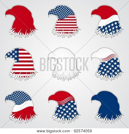 Patriotic American Symbol for Holiday. Eagle Symbol