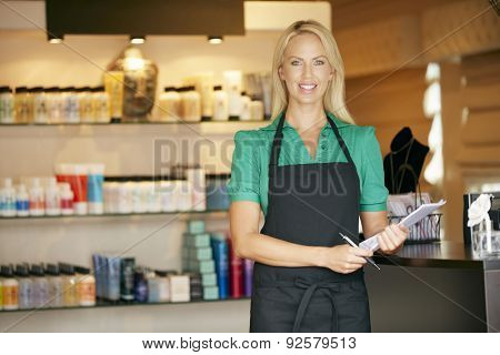 Portrait Of Sales Assistant In Beauty Product Shop