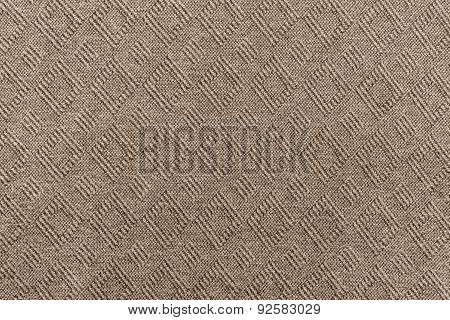 Knitted Textured A Herringbone Of Brown Color