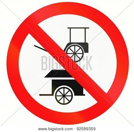 No Rickshaws And Carts In Indonesia