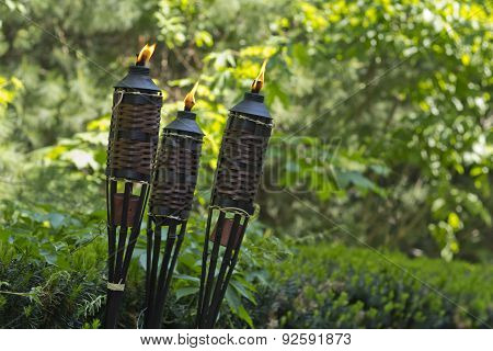 Bamboo Citronella Torch