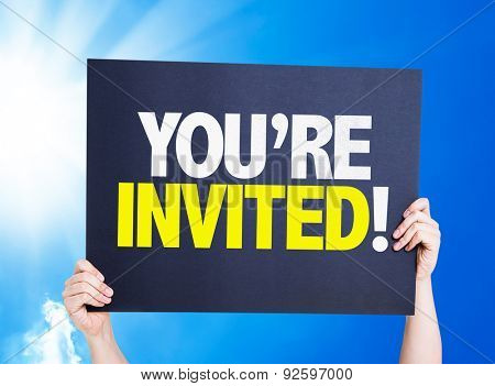 You're Invited! card with a beautiful day