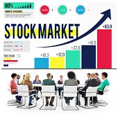 Stock Market Stock Exchange Trade Digital Concept poster
