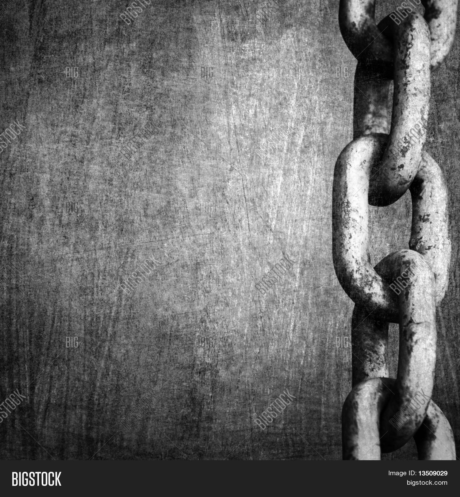 Heavy Chain On Metal Image Photo Free Trial Bigstock