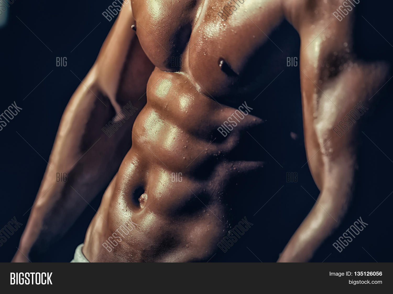 Muscular Male Wet Image Photo Free Trial Bigstock