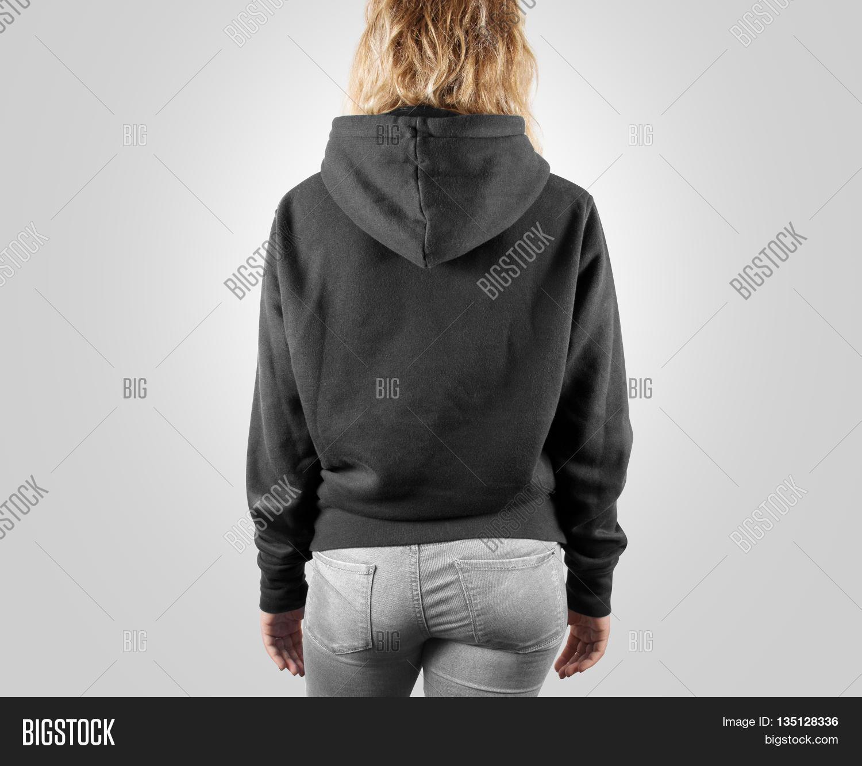 Blank Black Sweatshirt Mock Back Image & Photo | Bigstock